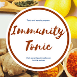 pictures of lemon, ginger and other spices for a DIY Tonic to Strengthen Your Immune System